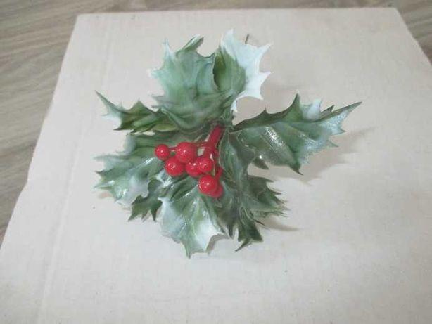 ostrokrzew gałązka dekoracje sztuczne kwiaty