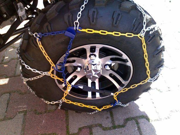 Łańcuchy śniegowe na koła do quada traktorka kosiarki odśnieżarki