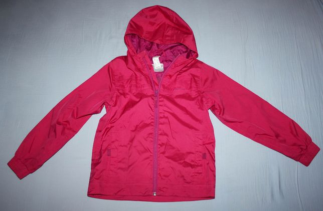 Różowa kurtka wiatrówka Quechua 122/133 cm