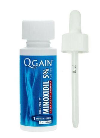 Minoxidil Qgain 60ml tratamento queda cabelo - barba
