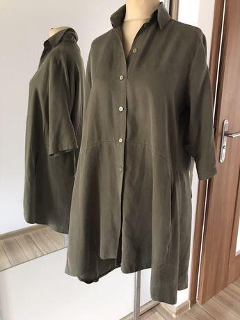 Tunika sukienka khaki może być ciazowa stan idealny r. 44 zara