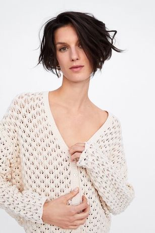 Nowy sweterek boho Zara rozmiar S