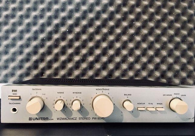 Wzmacniacz UNITRA PW 8040 jak NOWY 100% sprawny Vintage OKAZJA