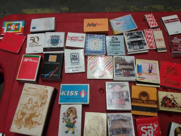 Coleção carteiras e caixas de fósforos