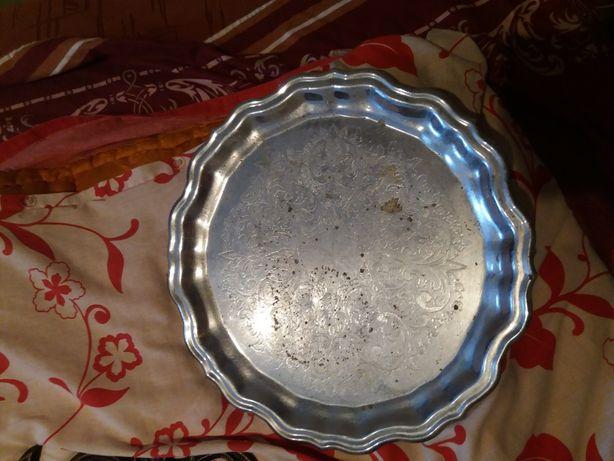 Поднос бронзовый мнц(мельхиор) Кольчугино мельхиор