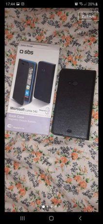 Zestaw 2sztNowy pokrowiec Etui kabura magnetyczna czarny SBS Lumia 540
