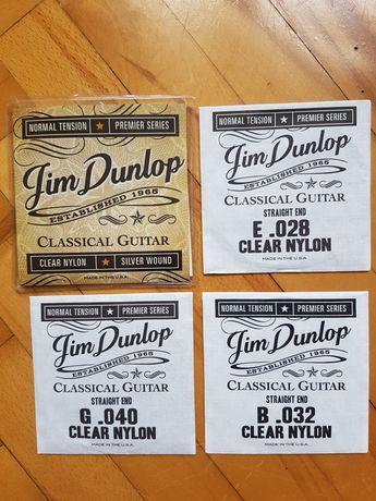 3 nylonowe struny Jim Dunlop gitara klasyczna