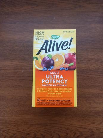 Alive! Adult Ultra Potency Мультивітаміни