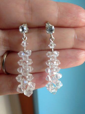Kolczyki kryształowe ślub