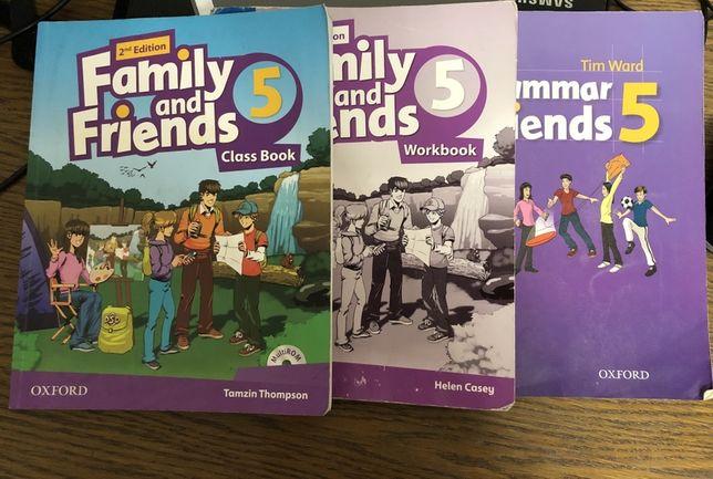 Family and friends5 комплект книга, тетрадь, грамматика