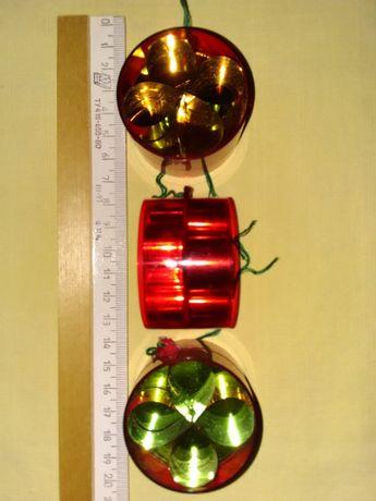 Елочные игрушки СССР, 60-х годов (фонарики).Крепления игрушек 11шт.