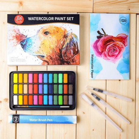 Набор для художника WATERCOLOR PAINT Акварельные краски 36 цветов