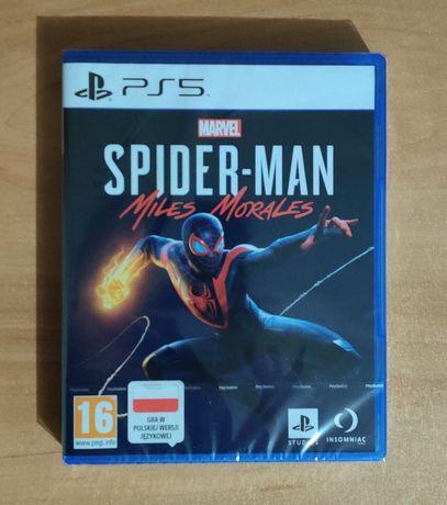 Gra Spiderman Miles Morales PS5 NOWA, ZAFOLIOWANA