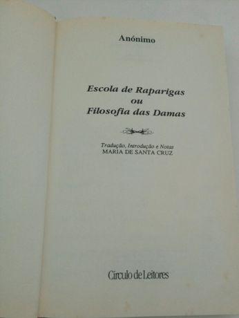 Livro 'Escola de Raparigas ou Filosofia das Damas' Círculo de leitores