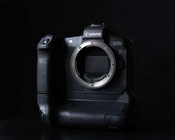Canon EOS R body, grip, adapter RF-EF super stan