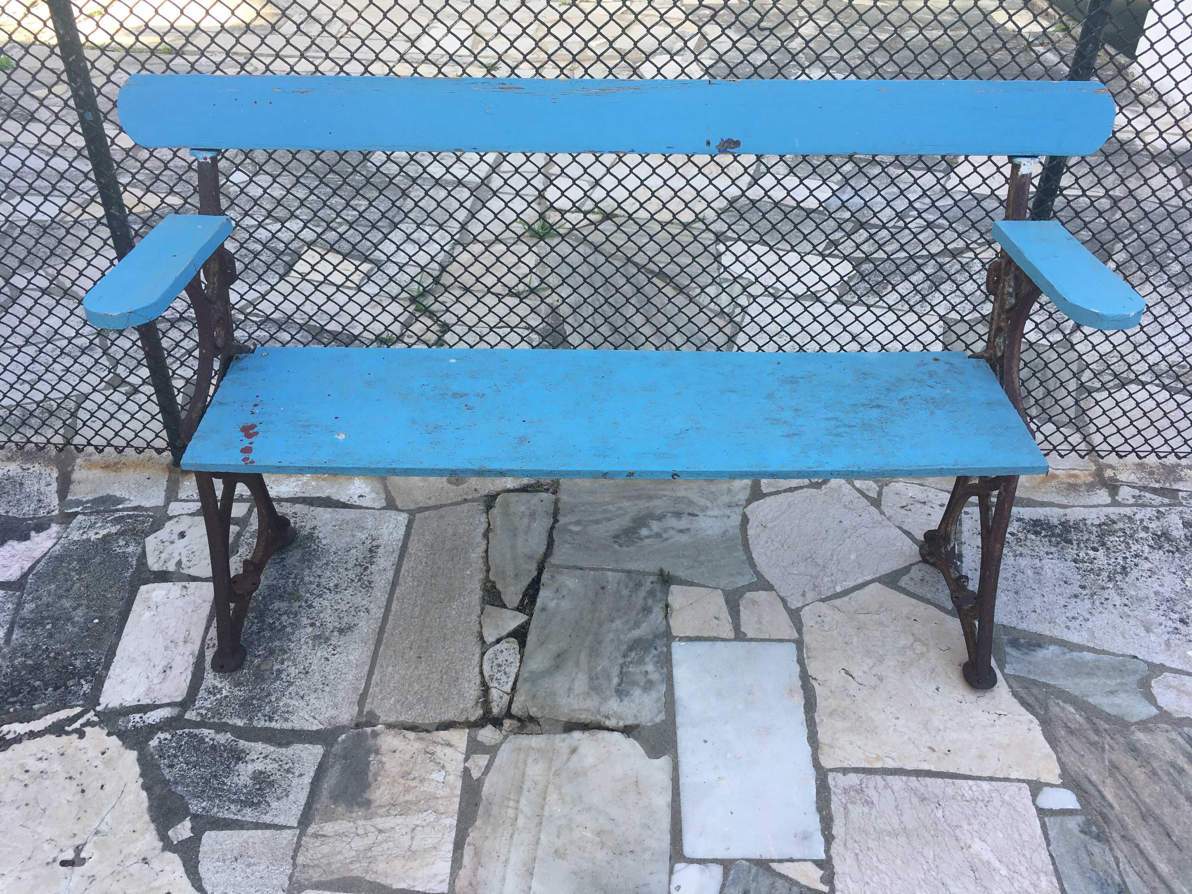Cadeiras e banco de jardim em ferro e escova Barbecook Nova