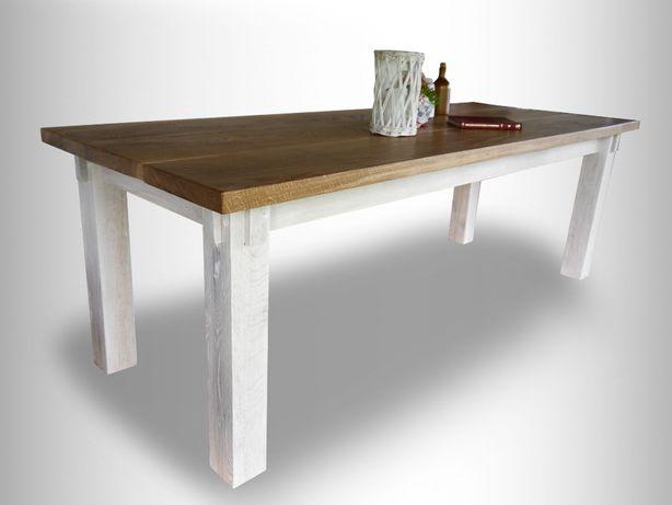 rustykalny stół dębowy z litego drewna dębowego dębowy prowansalski