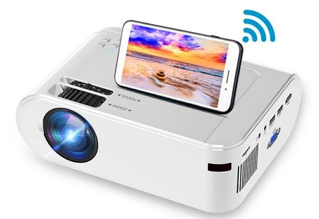 Projetor led Android+WiFi+bluetooth/Keystone digital/1080P (NOVOS)