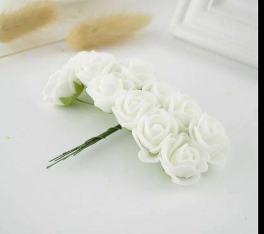 Kwiaty piankowe 144 sztuki, komunia