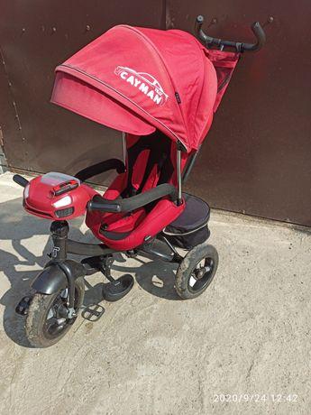 Продам детский трех колесный велосипед Tilly Cayman. Б. У. 6 мес.
