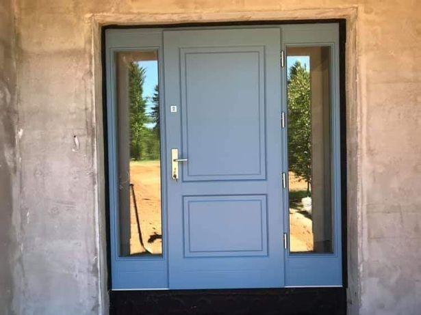 Drzwi zewnętrzne drewniane dębowe dostawa gratis