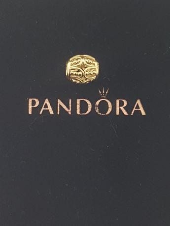 Złoty element charms na bransoletkę Pandora 14k.Nowy (211)