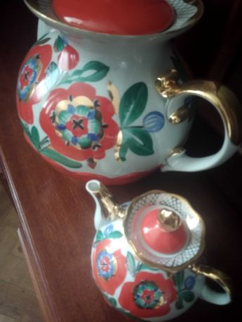Чайники фарфоровые мальва
