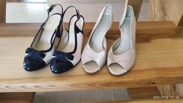 Sandały, czółenka, letnie buty- zestaw na lato 36, 37 (24 cm)