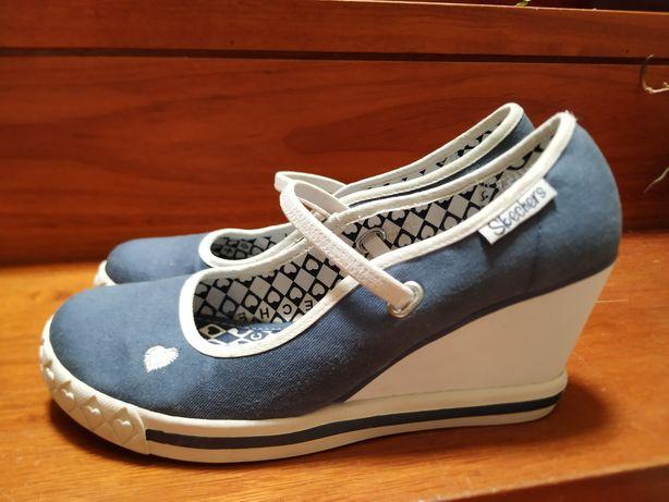 Sapatos skechers azul ganga