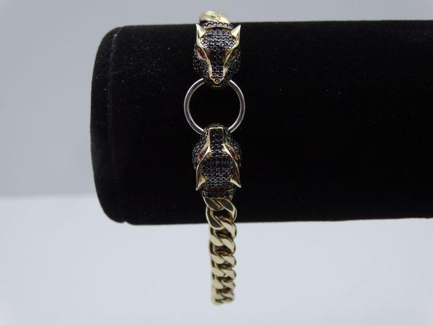 Piękna złota bransoletka P585 12,04g LOMBARD66