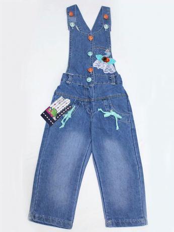 Комбинезон джинсовый рост 92 см, 2-3 года