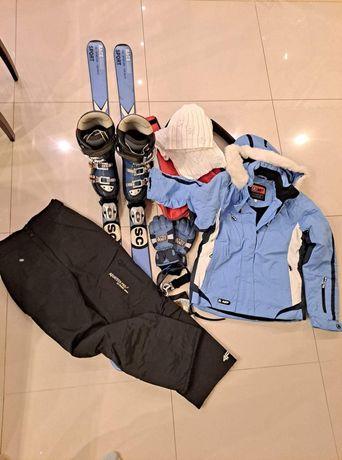 Zestaw Narty, buty, kurtka, spodnie +dodatki