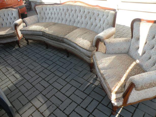 Sofa i 2 fotele w Stylu Ludwika