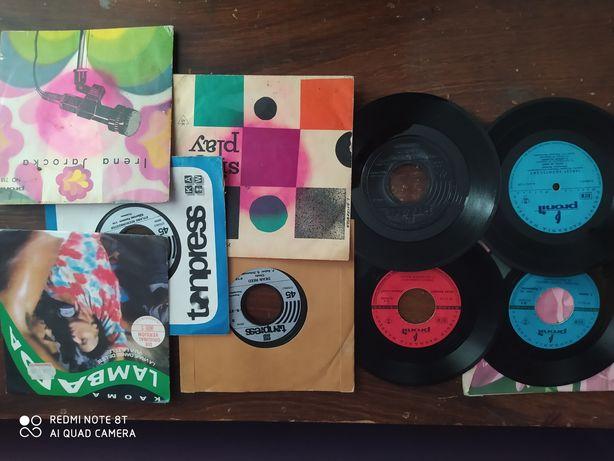 Pocztówki grające płyty winylowe małe mix zestaw