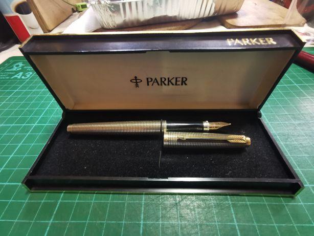 Caneta Tinteiro Parker 75 Sterling Silver Vermeil