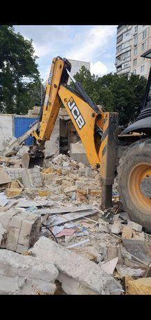 Демонтаж зданий. Демонтаж помещений любого типа. Снос домов, под ключ.