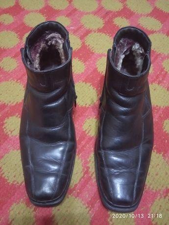 Мужские зимние ботинки из натуральной кожи 42 размер