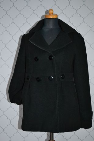 Płaszcz flauszowy L czarny