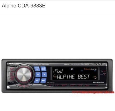 Продам автомагнитолу ALPINE CDA-9883Е процессорная.