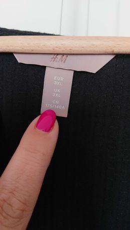 Sukienka H&M+ Czarna, dekolt w serek 3xl, XXXL