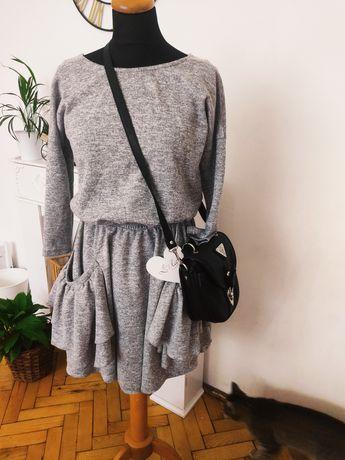 sukienka z długim rękawem sweterkowa Lola xs 34