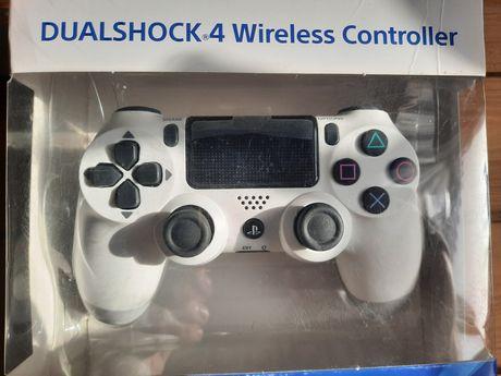 Playstation 4 pad idealny folia bialy + lafowarka 2xpad SONY orginal