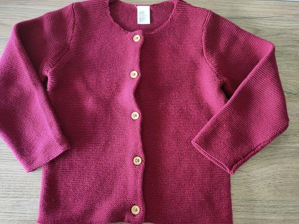 H&M Sweter bordowy roz 104