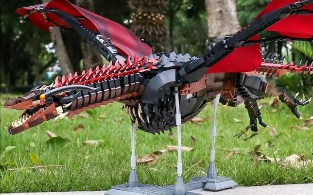 Game of Thrones Drogon compatível com Lego