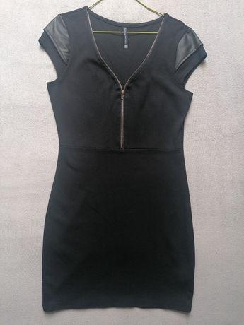 Sukienka ołówkowa mała czarna 38 M elegancka impreza zabawa wyjście