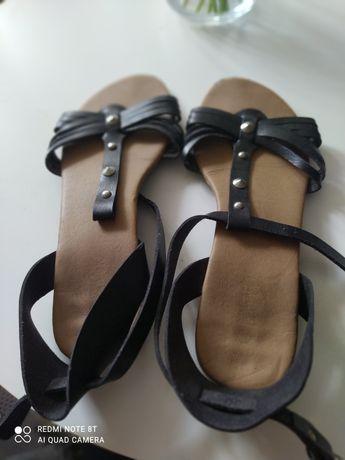 Sandały czarne roz. 39