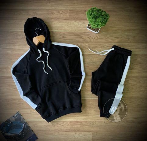 Теплый мужской спортивный костюм. Худи + штаны. Кофта/брюки
