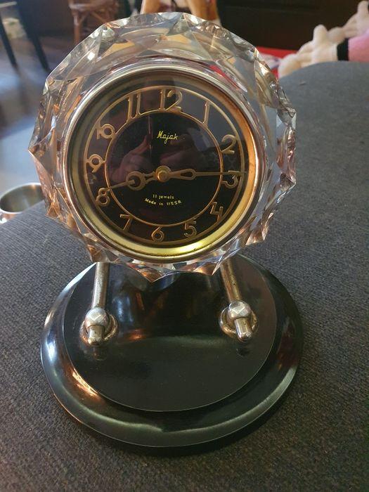 Stary zegar firmy MAJOR z podstawą, ZSRR lata 60. Łódź - image 1