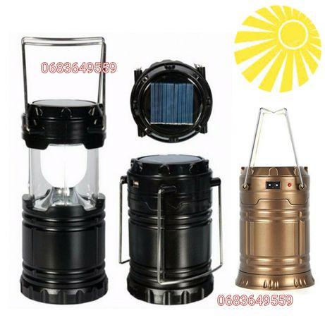 LED Фонарь кемпинговый светильник на солнечной батарее лампа