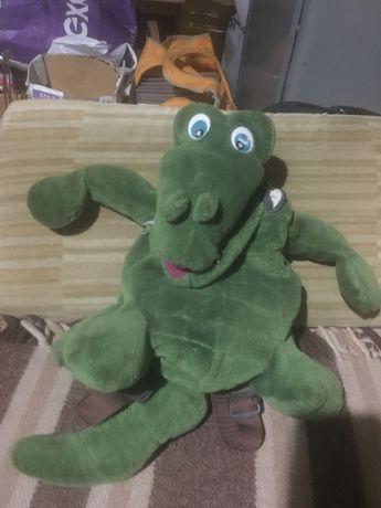 Детский мягкий рюкзак-игрушка «крокодил Гена» Рюкзак Ранец Сумка